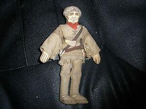 "Vintage  Davy Crockett 7/"" Plush Doll Vintage Hallmark 1979"