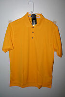Mens Adidas Polo Shirt Gold Yellow Climalite Z09028 Golf Dress Casual
