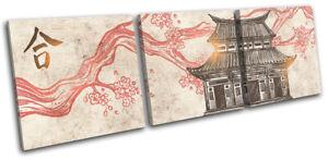 Buddhist-Temple-Illustration-Religion-TREBLE-CANVAS-WALL-ART-Picture-Print
