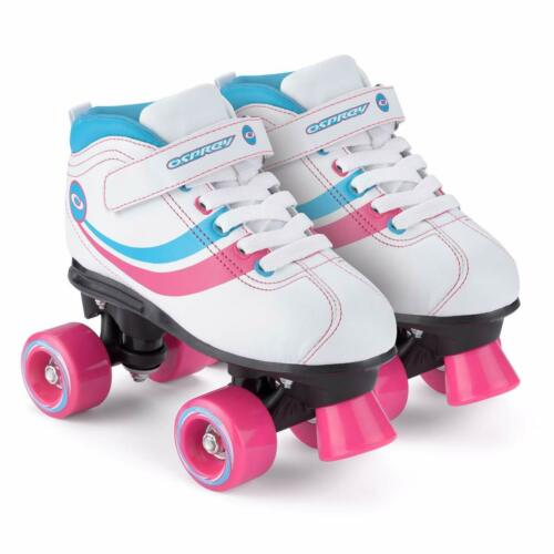 Osprey Disco Quad Skates Retro Roller Boots White Black Kids Boys Girls Lace-up