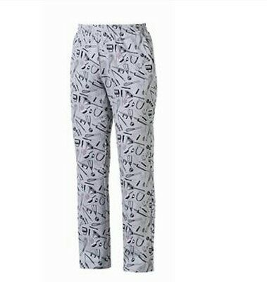 Pantalone chef cucina cuoco KITCHEN RESTAURANT COOK PANTS MADE IN ITALY