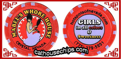 NV  LEGAL BROTHEL CATHOUSE COLLECTABLE RED Mabel/'s Whore House Crystal