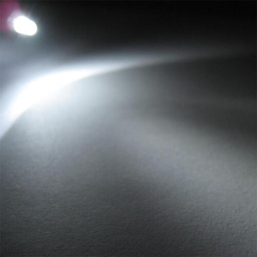 50 LEDs 3mm destellante Weiss LED claramente flashing alarmdummy