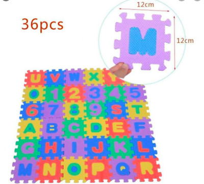 36pcs Large Alphabet And Numbers Floor Play Puzzle Mat Ebay