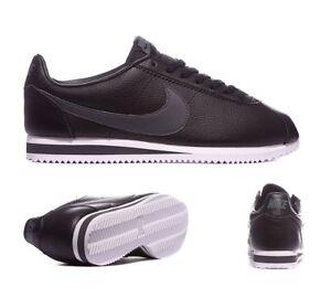 gris Cortez y de Tamaño Nuevo 10 Zapatillas deporte de uso Nike sin cuero oscuro Negro 7qXx0wBx