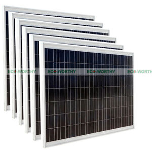 1500W-6PCS-24V-PV-250W-Solar-Panel-for-Charging-Camping-Caravan-Battery-Power