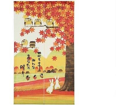 Happy Lucky Rabbit 福兎 Noren Japanese Doorway Curtain Made in Japan 83x90cm Cute
