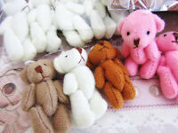 8 Hand Made Little 1.5 Craft Teddy Bear Doll/cute/baby/gift/sew H559-1.5-color