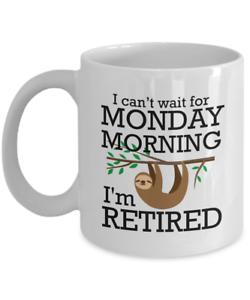 Funny Lazy Sloth Retirement MugSloth Coffee MugFREE SHIPPING 11 oz ❤️
