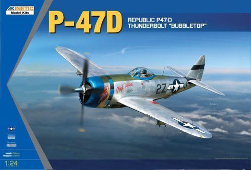 Kinetic 1 24 Republik P-47d Thunderbolt Bubble Top Top Top  3207 47f127