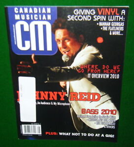 Canadian-Musician-JOHNNY-REID-Recording-Vinyl-Bass-Gord-Downie-2010-Magazine