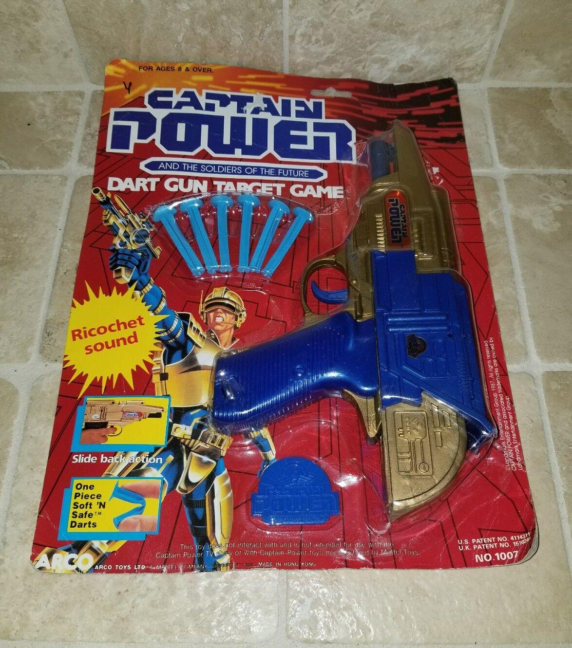 1987 Vintage Original Captain Power  DART GUN TARGET GAME