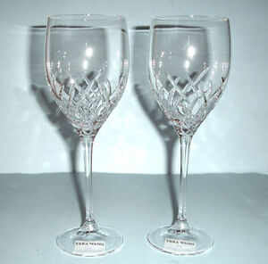 Vera wang wedgwood duchesse encore 2 crystal goblet glasses 16 oz new ebay - Vera wang duchesse wine glasses ...