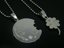 MENS WOMENS STAINLESS STEEL 316L COUPLE  PENDANT NECKLACE 03