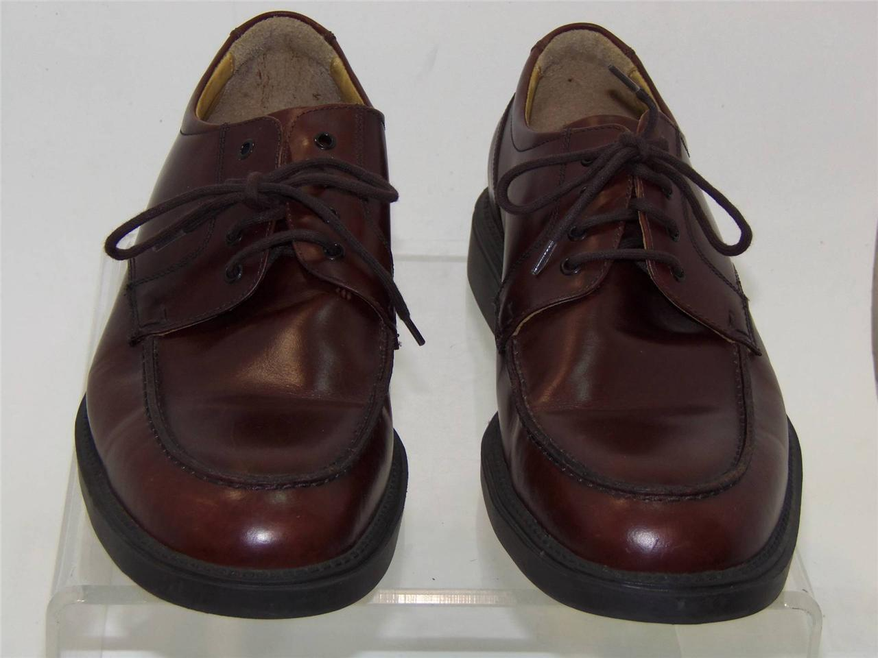 JOHNSTON MURPHY 10M BROWN HANDCRAFTED BRAZIL 20 4559 BROWN 10M 4 HOLE RUB OFF BROWN OXFORD 697558