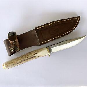 Ruko Muela Fixed Hunting Knife With Horn Handle And Sheath Ebay