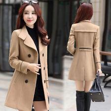 d718554153086 item 3 Women Winter Warm Wool Blend Double Breasted Long Jacket Trench Coat  Plus Size -Women Winter Warm Wool Blend Double Breasted Long Jacket Trench  Coat ...