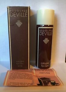 VINTAGE RODOLPHE DEVILLE COLOGNE FOR MEN SPRAY 120 g (N.O.S)  WrZ7C YsD3G