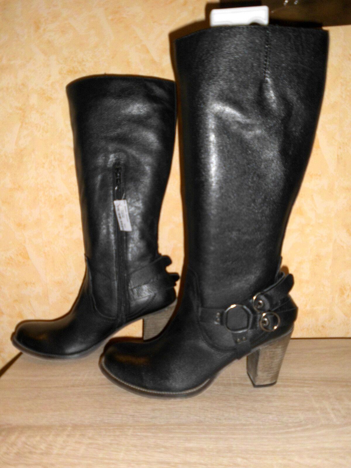 Grandes zapatos con descuento Studio W High Heel Stiefel im Westernstil NEU Gr. 41 in schwarz & Nappaleder