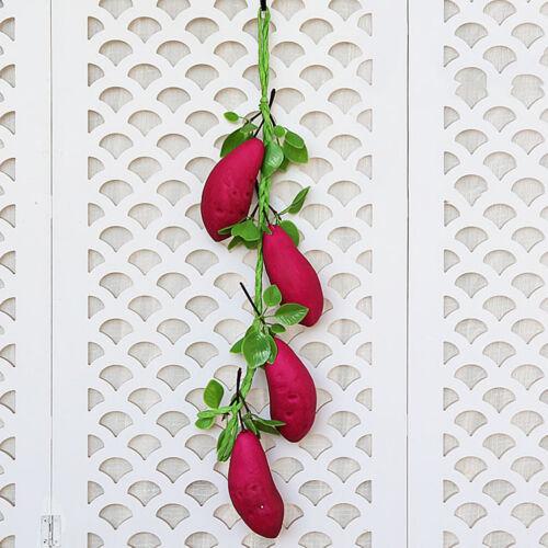 Artificial Vegetables Fruit Pepper Fake Corn Home Restaurant Garden Art Decor UK