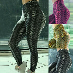 Women-Compression-Fitness-Leggings-Running-Yoga-Gym-Scrunch-Workout-Active-Pant