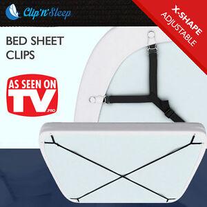 Clip-039-n-039-Sleep-Bed-Sheets-Clips-Grippers-Fasteners-Suspenders-Elastic-Adjustable