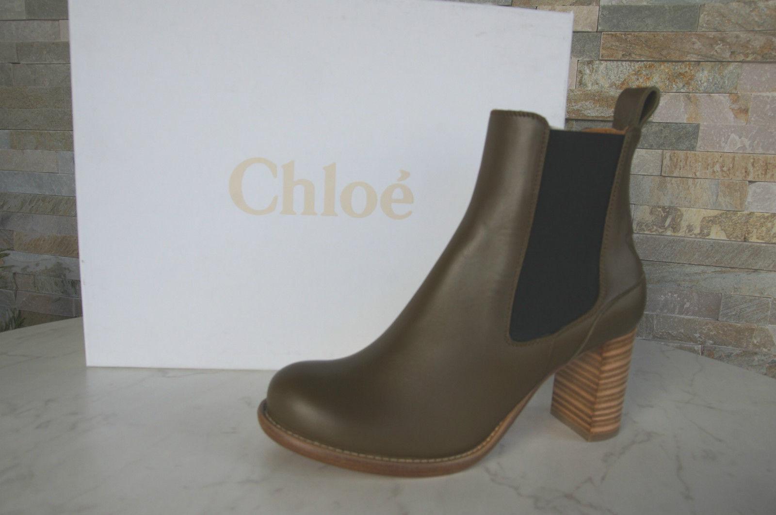 Chloé Chloe botines botines botines talla 38 botas botaies zapatos cuero nuevo ex PVP  más vendido
