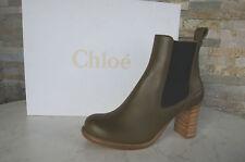 CHLOÉ CHLOE Stiefeletten Gr 38 Stiefel Booties Schuhe shoes Leder NEU UVP 675 €