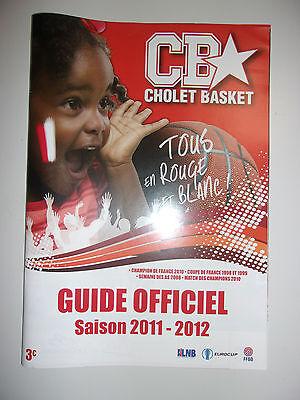 Programme Cholet Basket Saison 2011-2012 Uitstekend In Kusseneffect
