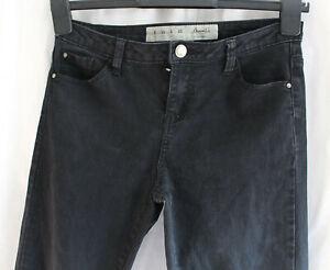Denim & Co Noir Denim Skinny Stretch Jeans Uk 8 Mid Rise