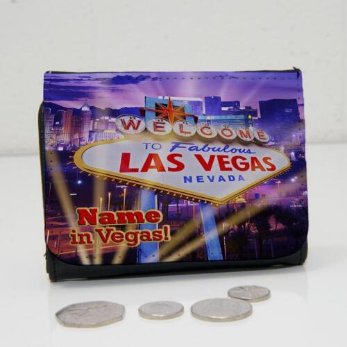 Personalizzato Las Vegas Lights Addio al Celibato Wallet Dad Grandad da Uomo Ragazzi Regalo ST196
