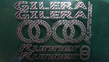 Gilera Runner Decals/Stickers Carbon & Silver DESIGN sp vx fx vxr 125 172 180 50
