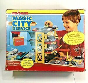 Majorette-Magic-City-Service-Toy-Car-Playset-Item-791-France-Foldable-Portable