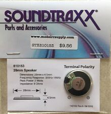 "Soundtraxx 810153 1"" Round Speaker (28mm) 8 ohm 1 Watt  MODELRRSUPPLY-com"