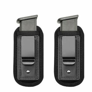 2-Pack-Pouches-Holders-Universal-Holster-IWB-Clip-9mm-45-Ammunition-amp-Magazine