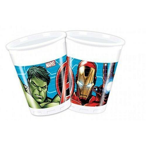 8 pcs. DP 9012855-Anniversaire /& Fête-Marvel Avengers jetables-Gobelet 200 ml
