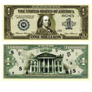 1000000$ Million Dollars The First Banque Unc. 691347## Fantasy Billets de EUdrq1fr-07140729-521010725