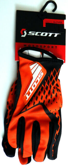 SCOTT RACING motox mx gloves XXLarge XXL 12 NEW 250 Spectre orange / black