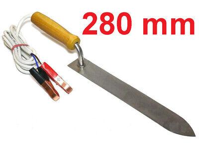 28 cm EDELSTAHL ENTDECKELUNGSMESSER ELEKTRISCH IMKEREI IMKER ENTDECKLUNGSMESSER