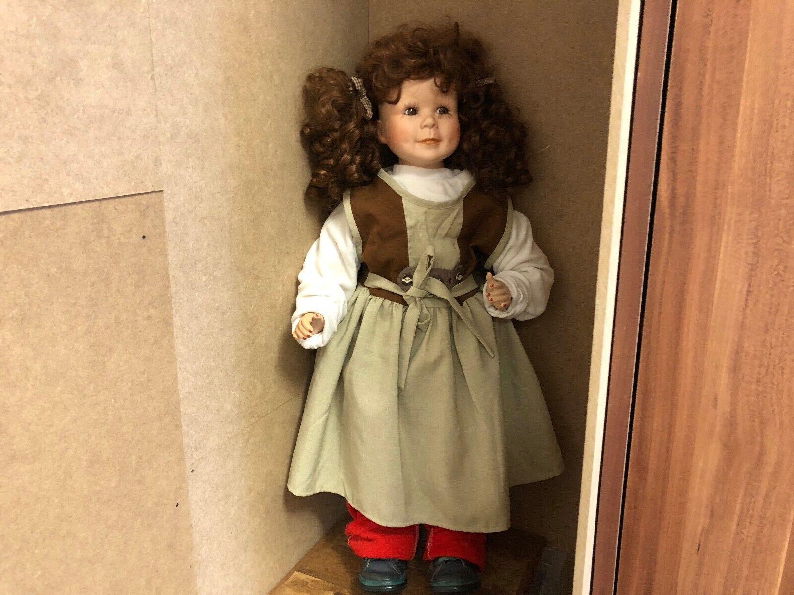 Artistas muñeca muñeca de porcelana 72 cm. top estado.