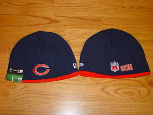 Chicago Bears NFL On Field Sideline Tech Knit Hat Beanie Cap GSH New ... e7c2ae1e4