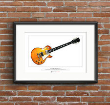 Jimmy Page's 1959 Gibson Les Paul #1 Limited Edition Fine Art Print A3 size