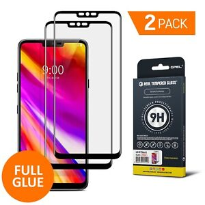 Details about GPEL® LG G7 ThinQ Screen Protector, 2-Pack, Full Screen Full  Glue, Case Friendly