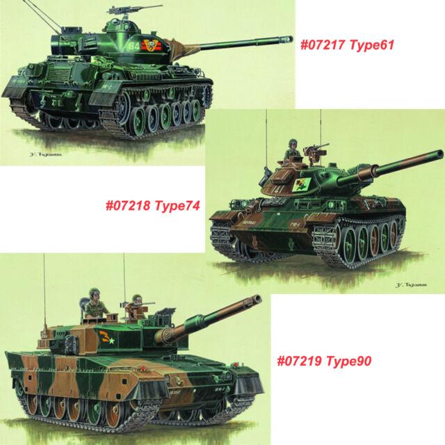 Trumpeter 1//72 07218 JGSDF Type74 Tank