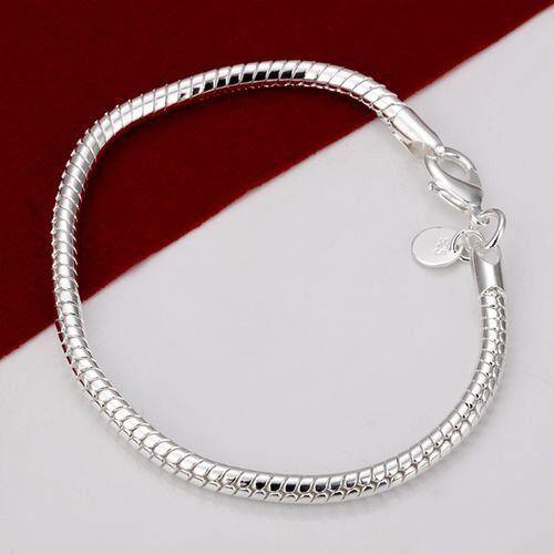 ASAMO Damen Herren Armband 925 Sterling Silber plattiert A1187