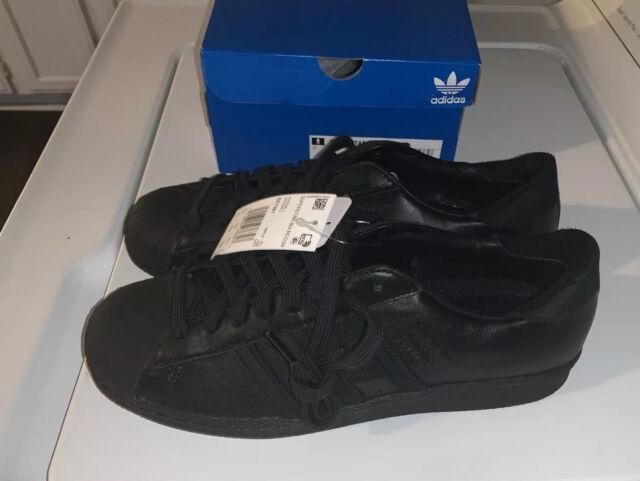 adidas Superstar 80s Recon Shoes Men 12 Triple Black Shell Toe EE7391