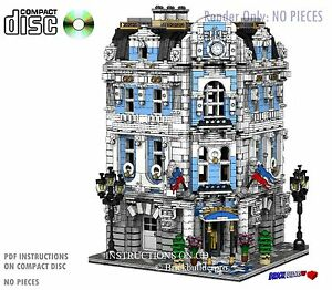 CD-Custom-Lego-International-Hotel-city-town-Instructions-cafe-corner-hall-13