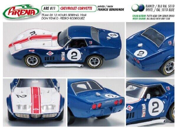 Kit Corvette C3 Team DX  2 Sebring 1968 1968 1968 - arena models kit 1 43 306