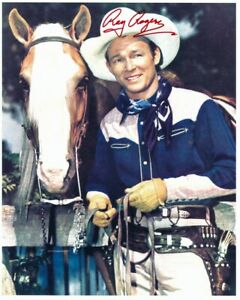 ROY ROGERS signed CLASSIC WESTERN PORTRAIT 8x10 w/ coa TRIGGER GOLDEN PALOMINO