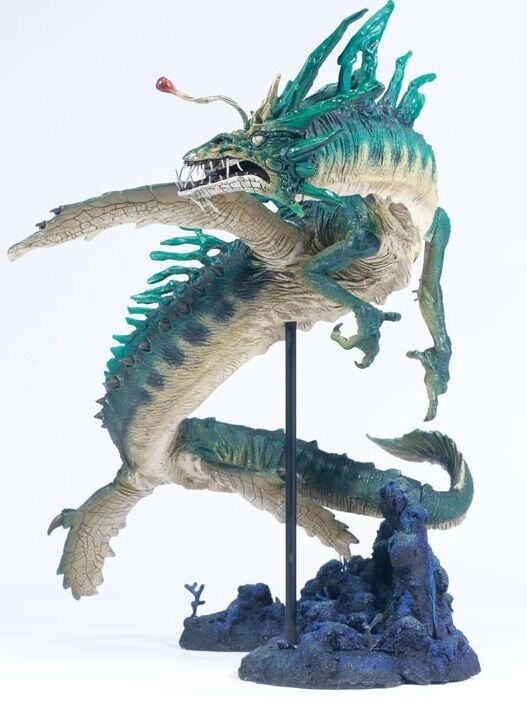 McFarlane Toys Dragons Series 2 Lost King Water Dragon Action Figure Nuovo 2005